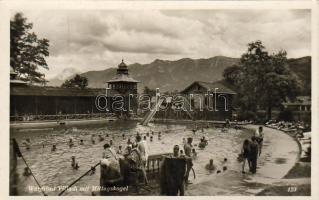 Villach spa with the Mittagskogel, Villach strand a Mittagskogellel