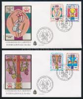 Eucharistic Congress, Seville set 2 FDCs, Eucharisztikus kongresszus, Sevilla sor 2 db FDC-n