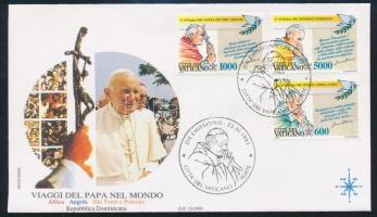 Pope John Paul II.'s travels set FDC, II. János Pál pápa utazásai sor FDC-n