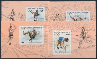 Szöuli olimpia sor vágott blokk formában Seoul Olympics set in imperf blocks