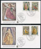 """Loreto's """"Sancta Casa"""" Basilica set 2 FDCs, 700 éves a Loreto-i """"Casa Sancta"""" bazilika sor 2 db FDC-n"""