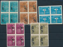 1962 Olimpia vágott sor négyestömbökben Mi 657-661B