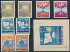 1964 Olimpia vágott + fogazott sor Mi 823-826 + 828-831 + blokk Mi 22