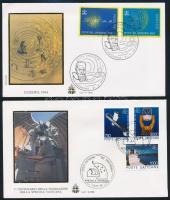 1991-1994 Space Research 2 FDCs, 1991-1994 Űrkutatás motívum 2 klf FDC