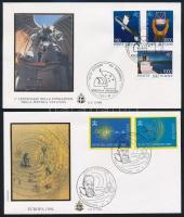 1991-1994 Űrkutatás motívum 2 klf FDC, 1991-1994 Space Research 2 FDCs
