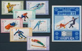 1972 Olimpia sor Mi 1527-1533 + blokk Mi 44
