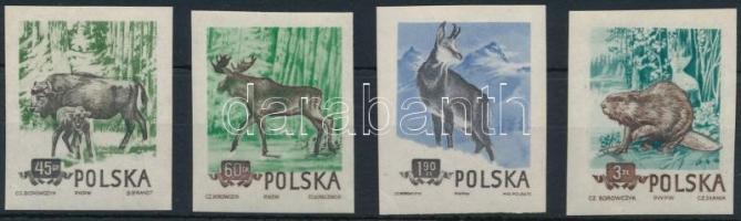 Protected animals imperforated set, Védett állatok vágott sor