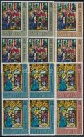 1969 Karácsony sor négyes tömbökben Mi 213-216