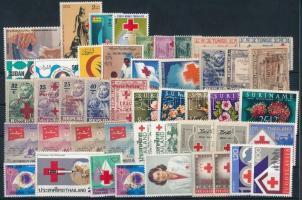 1927-1988 Red Cross 6 diff sets + 25 diff stamps, Vöröskereszt motívum 1927-1988 6 klf sor + 25 klf önálló érték