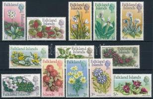 Flowers set without closing stamp (Mi 174 missing) Virágok sor záróérték nélkül (Mi 174 hiányzik / missing)