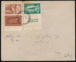 1950 Függetlenség tabos FDC Mi 30-31 (foltos/stain)