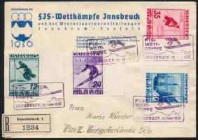 1936 FIS sor alkalmi bélyegzéssel ajánlott levélen