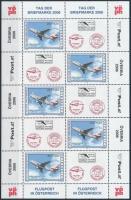 Stamp Day - Airplane mini sheet, Bélyegnap - repülő kisív