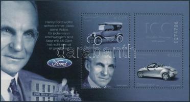 Ford automobile block, Ford automobil 100. évfordulója blokk