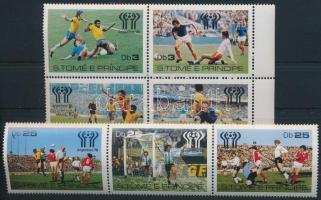 Labdarúgó VB sor négyestömbben és hármascsíkban Football World Cup set in block of 4 + stripe of 3