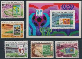Labdarúgó VB. sor + blokk Football World Cup set + block