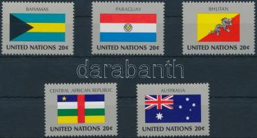 1980-1984 ENSZ államok zászlói 5 teljes sorozat 1980-1984 UN Flags 5 series