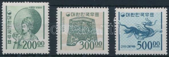 Forgalmi záróértékek (Mi 500 törés) Definitive stamps (Mi 500 creases)