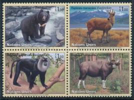 Endangered species block of 4, Veszélyeztetett fajok négyestömb