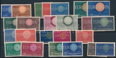 Europa CEPT 12 countries 24 stamps, Europa CEPT 12 ország 24 klf bélyeg