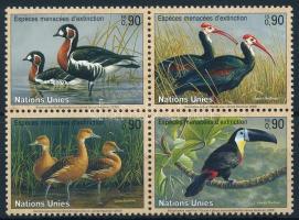Endangered animal set in block of 4, Veszélyeztetett állatfajok sor négyestömbben