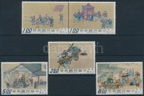 A city in northern China (II) set with pair Egy város Észak-Kínában (II) sor párral