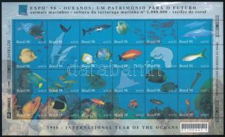 A Óceánok éve kisív Year of the Oceans mini sheet