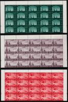1959 Építészeti műemlékek sor záróérték nélkül 20-as tömbökben Mi 588-590