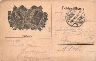 Wilhelm II, Franz Joseph, Viribus Unitis propaganda card, II. Vilmos, Ferenc József, Viribus Unitis propaganda lap