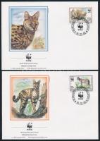 WWF: Serval set on 4 FDC, WWF: Szervál sor 4 db FDC-n