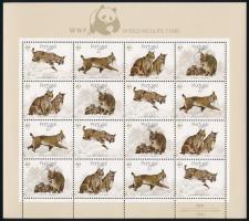 WWF Lynx miniature sheet, WWF: Hiúz kisív
