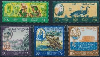 1967 Turizmus éve sor Mi 855-859