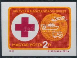 1981 Vöröskereszt (VI.) vágott bélyeg