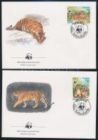 WWF: Tigris sor 4 db FDC-n WWF: Tiger set on 4 FDC