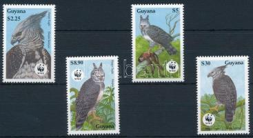 WWF Madarak: hárpia sas sor + 4 FDC + 4 CM WWF Birds: harpy eagle set + 4 FDC + 4 CM