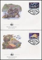 WWF: Marine animals set on 4 FDC WWF: Tengeri élőlények sor 4 db FDC-n