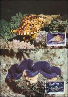 WWF: Marine animals set on 4 CM WWF: Tengeri élőlények sor 4 db CM-en