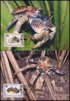 WWF: Coconut crab set on 4 CM WWF: Pálmatolvaj sor 4 db CM-en