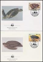 1983 WWF: Teknősök sor Mi 541 A-544 A 4 db FDC-n