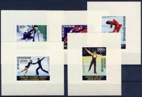 1976 Téli olimpia érmesei fogazott + vágott sor + vágott blokksor Mi 417-421 + fogazott és vágott blokk 11