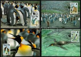 WWF King Penguin 4 values 4 CM WWF: Király pingvin 4 érték 4 db CM-en