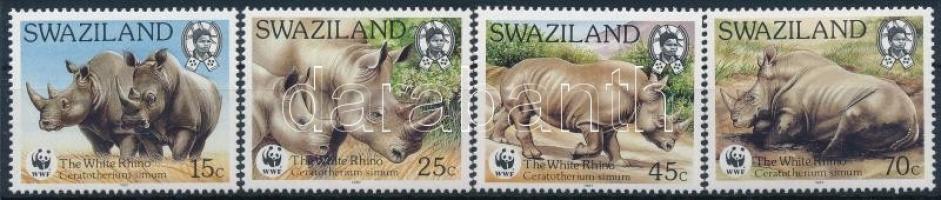 WWF Rhino set + 4 FDC WWF: Orrszarvúk sor + 4 FDC
