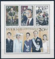 Carl Gustaf király 50. születésnapja bélyegfüzet lap King Carl Gustaf  stamp-booklet sheet