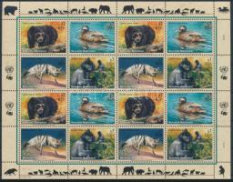 Veszélyeztetett állatok kisív, Endangered animals mini sheet