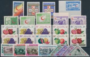 1956-1972 27 stamps 1956-1972 27 db klf képes bélyeg, közte teljes sorok és vágott értékek stecklapon