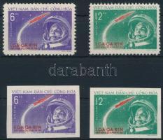 1961 Űrkutatás - Gagarin első ember az űrben fogazott és vágott sor Mi 166-167