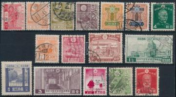 1926-1937 16 stamps, 1926-1937 16 klf bélyeg