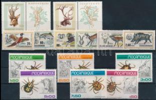 1957-1986 Animals 7 sets + 3 stamps, 1957-1986 Állat motívum 7 klf sor + 3 db önálló érték 2 stecklapon