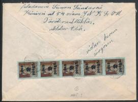 Inflation cover, (3. díjszabás) Távolsági levél Kisegítő 5x2P/4f bérmentesítéssel