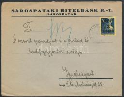 Inflation cover, (2. díjszabás) Távolsági levél Kisegítő 3P/50f bérmentesítéssel